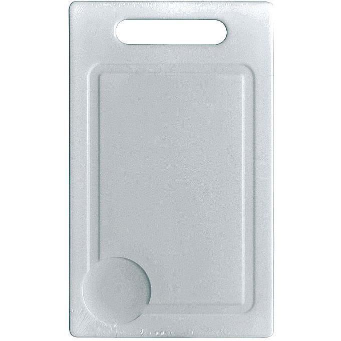 Planche à découper 21 x 15 cm - plastique - blanc