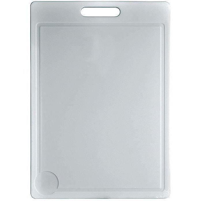 Planche à découper 50 x 35 cm - plastique - blanc