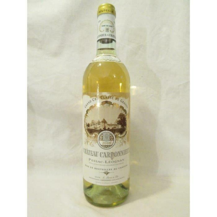 pessac-léognan château carbonnieux cru classé (étiquette tâchée) blanc 2008 - bordeaux france