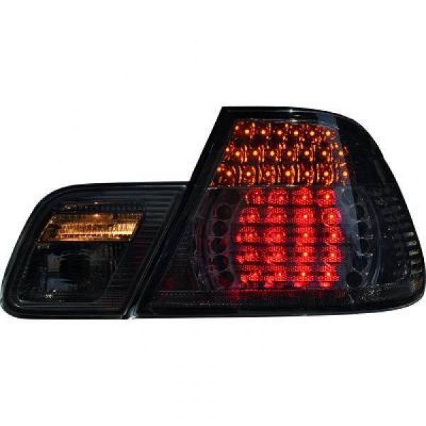 feux arrières design, noir, LED BMW E46, Cabrio 99-07 CABRIO pour: BMW serie 3 (E46) Coupe/Cabrio 99-03