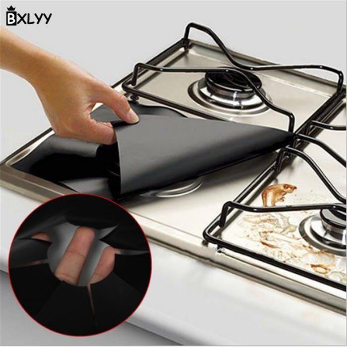 Accessoires de cuisine en PTFE haute température - Tapis de Protection pour cuisinière à gaz 27*27c - Modèle: brown - WMGJMXA00238