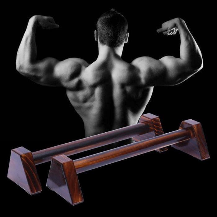 40CM en bois Push Up supports support support Balance barre parallèle musculation équipements de Fitness - ZOAMFWZDA08337