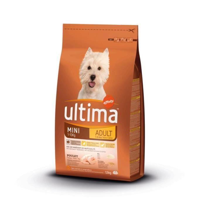 ULTIMA Croquettes mini - Pour chien adulte - 1,5 kg (Lot de 3)