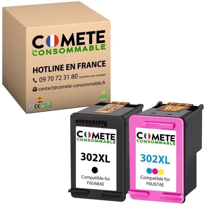 302 XL Pack de 2 Cartouches Compatibles pour HP 302 XL 302XL pour imprimante HP Deskjet Envy ou Officejet