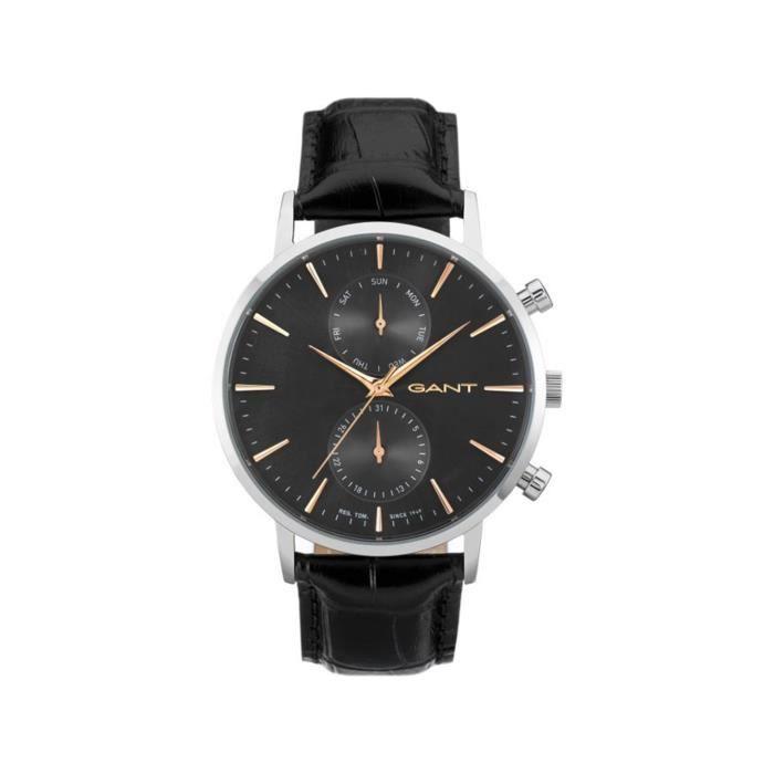 GANT TIME - W11202 - Montre Homme - Quartz - Analogique - Bracelet cuir noir
