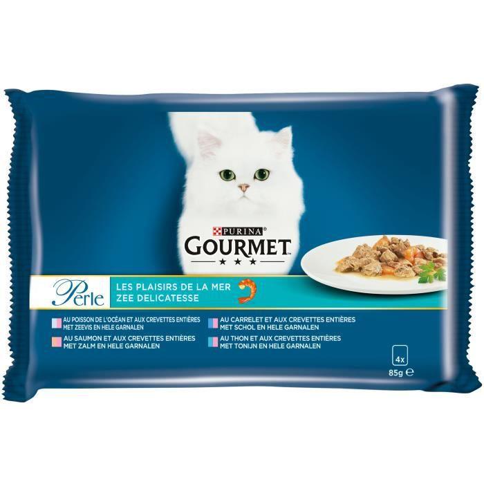 GOURMET Plaisirs de la mer - Pour chats - 4x85 g