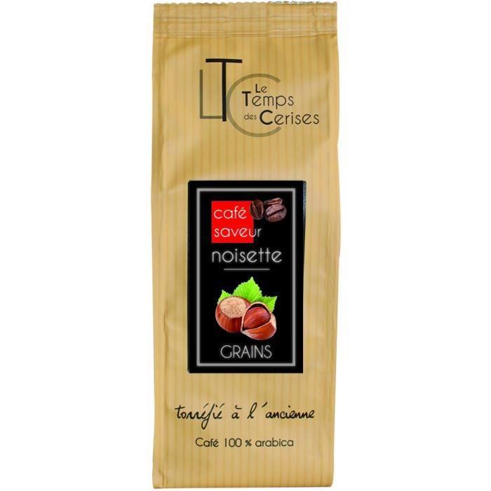 LE TEMPS DES CERISES Café Saveur Noisette 250g Grain