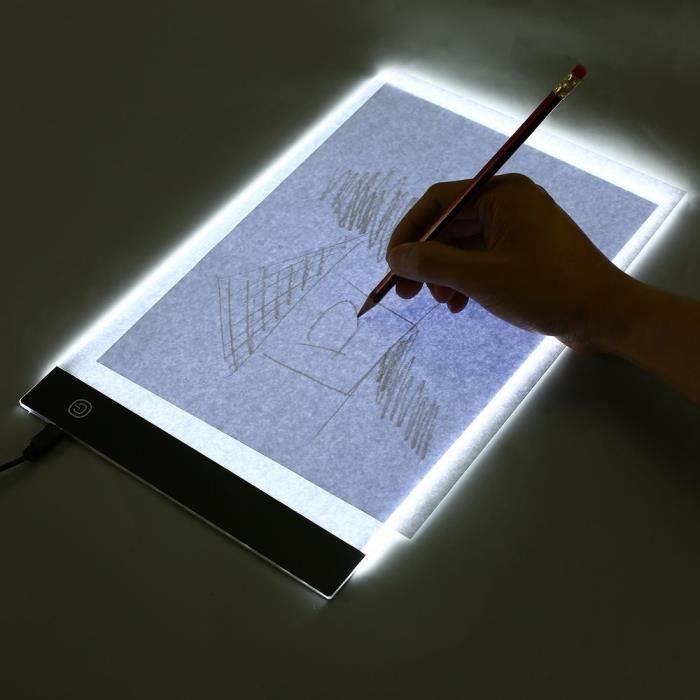 A4 Planche à dessin de conception ergonomique pour enfants table de traçage pour caissons lumineux