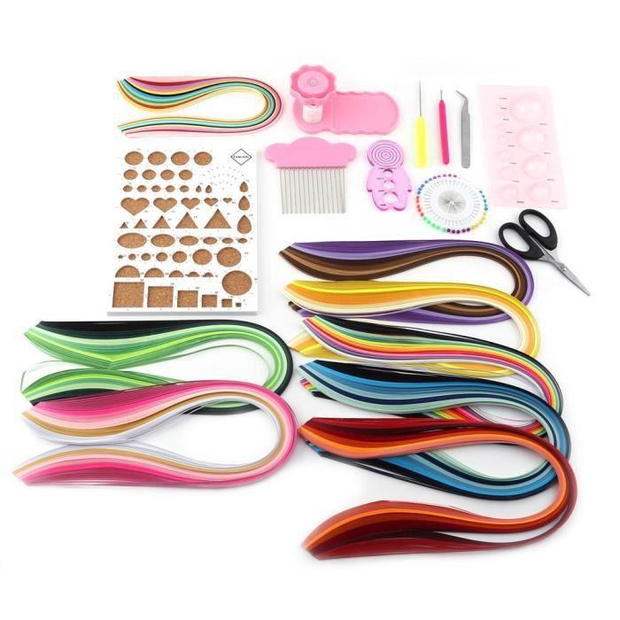 ✞ 960 bandes 3mm papier quilling bricolage artisanat kit conseil moule sertisseur peigne outils(3mm)-GOL✞