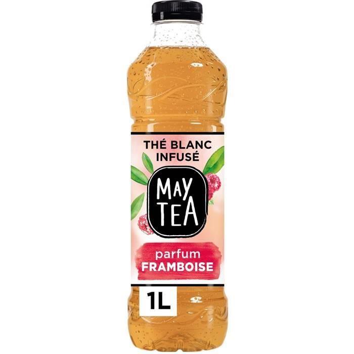 LOT DE 8 - MAY TEA : Thé blanc - Thé glacé infusé à la framboise 1 L