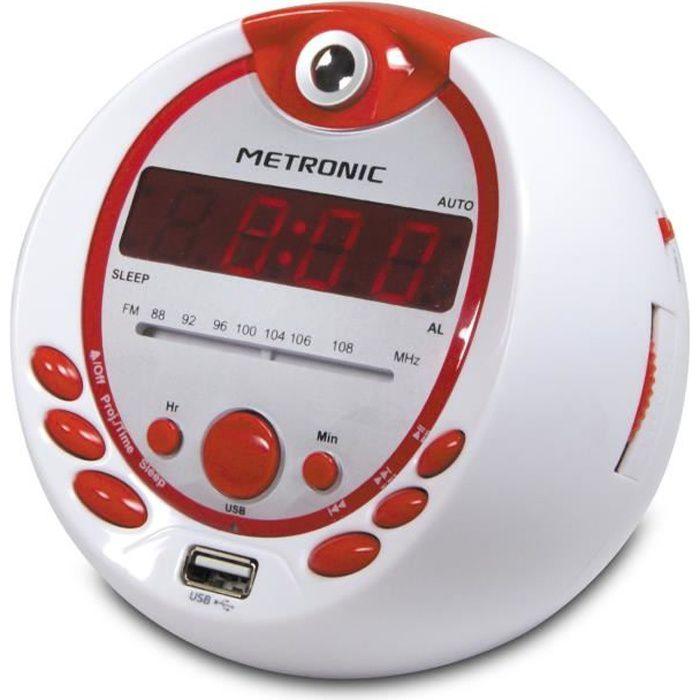 MET 477021 Radio réveil projection Pirate