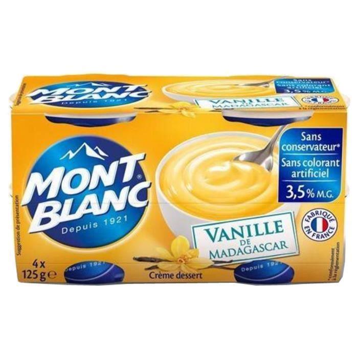 Mont Blanc - Mont Blanc Crème Dessert Vanille (lot de 4)