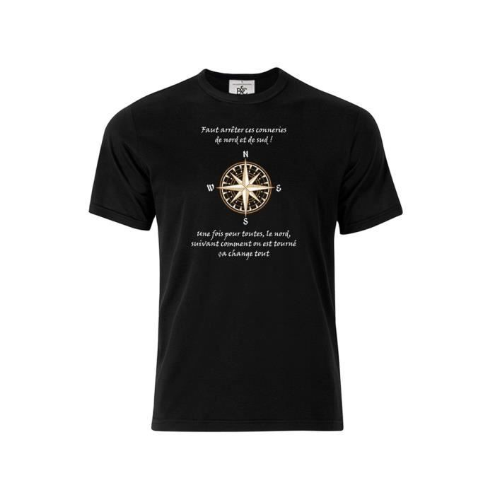 T-shirt col rond Citation Kaamelott Perceval Nord et Sud 2 blanc xl