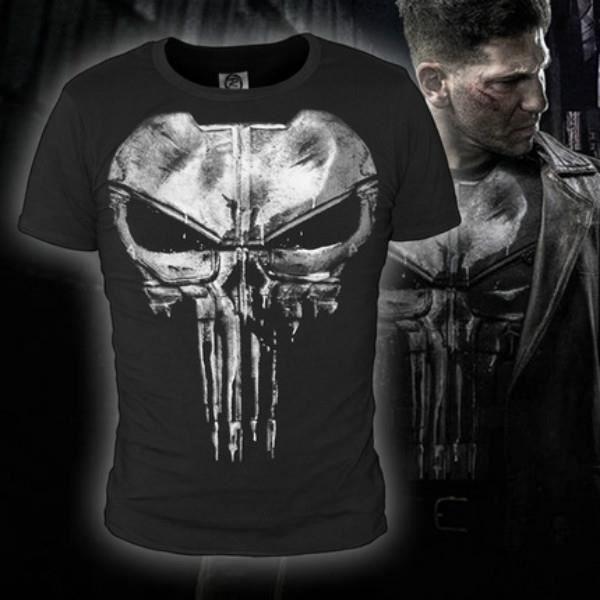 Daredevil punisher Frank Castle crâne T-shirt Hommes Fitness Sueur Vêtement de compression Coton