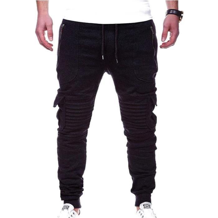 Homme Pantalon Stripe Plier Jogging Survêtement Sweat Taille Élastique Cordon Pantalon Sport Casual Cargo Pantalon M - 3XL
