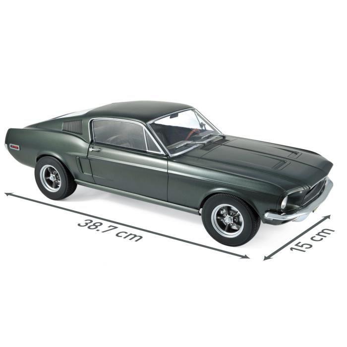 Miniature montée - Ford Mustang Fast Back vert satiné métallisé 1968 1-12 Norev