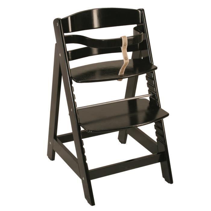 Chaise haute en bois Sit Up III Noir
