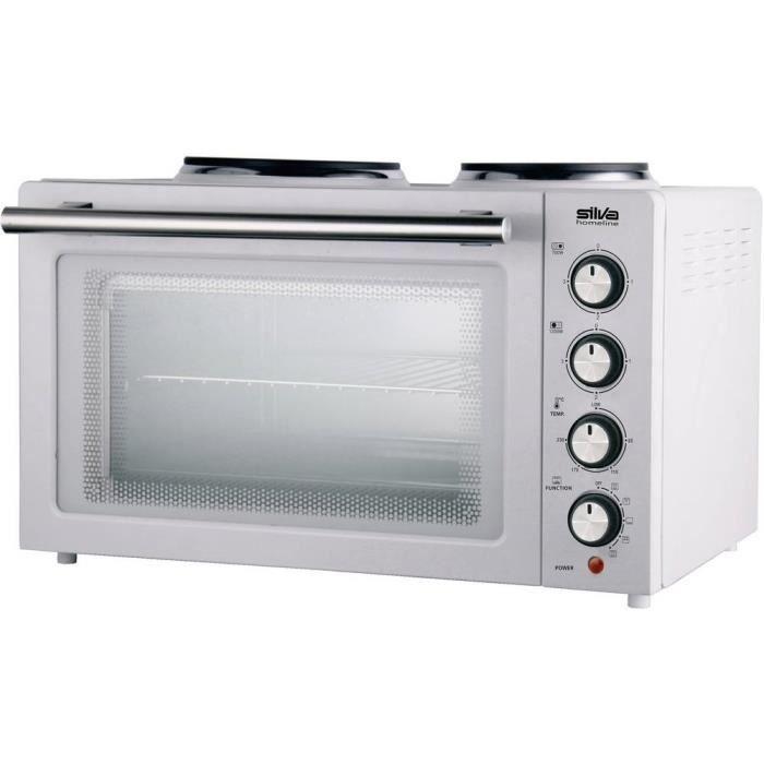 Mini-four Silva KK 2900 440102 plaques de cuisson incluses, fonction grill, fonction chaleur tournante, avec broche 30 l - MINI-FOUR