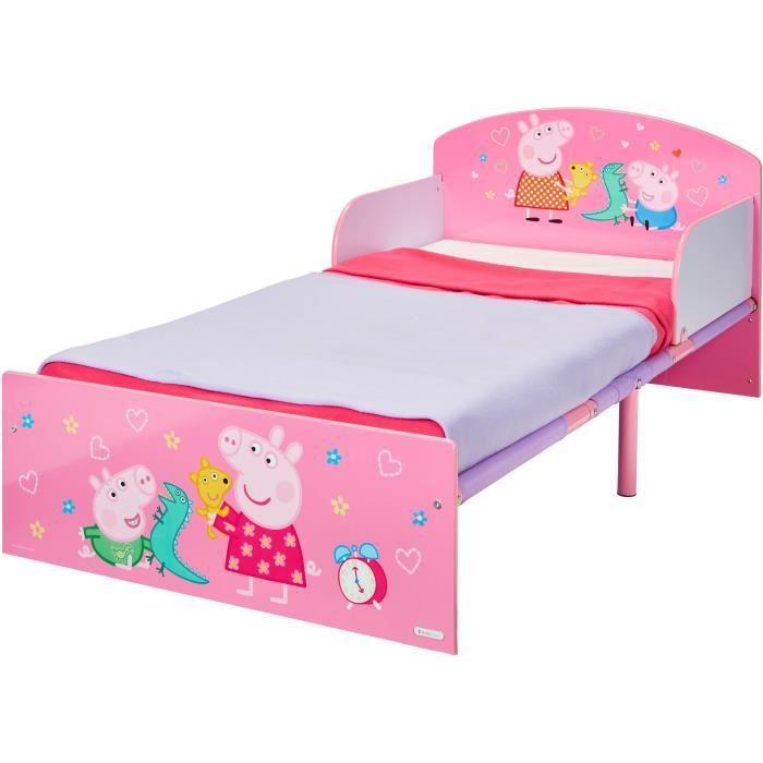 PEPPA PIG Lit pour Enfants pour Matelas 140cm x 70 cm