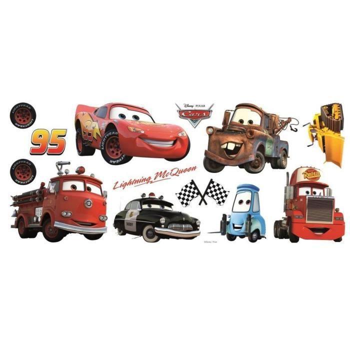 Stickers repositionnable multi éléments Cars Disney
