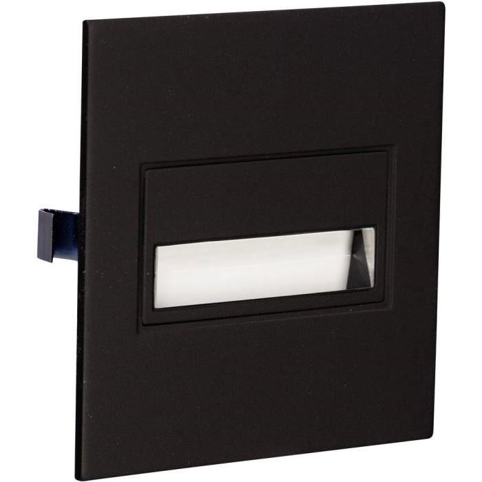 SPOTS - LIGNE DE SPOTS - Applique à LED encastrable 0.42 W 1x blanc chaud Zamel Sona 14-211-62 noir 1 pc(s)