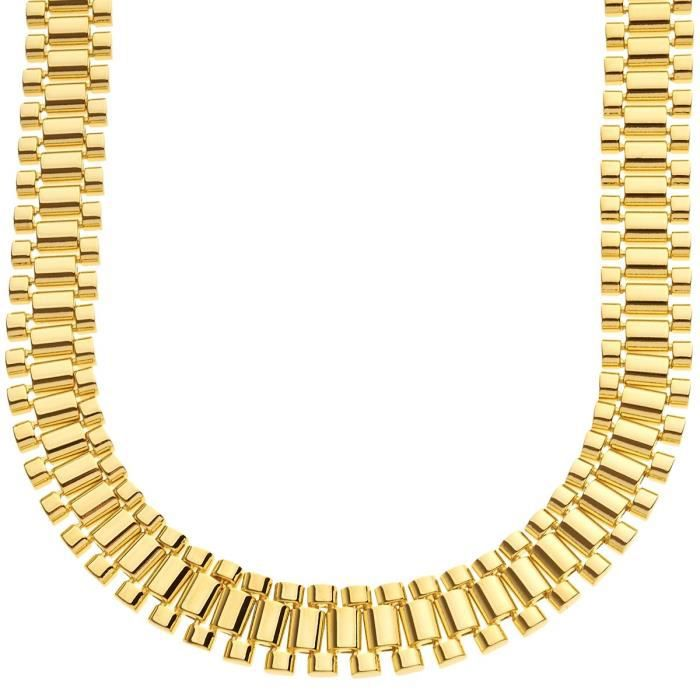 Iced Out Hip Hop Bling Chaîne - LINK 15mm gold