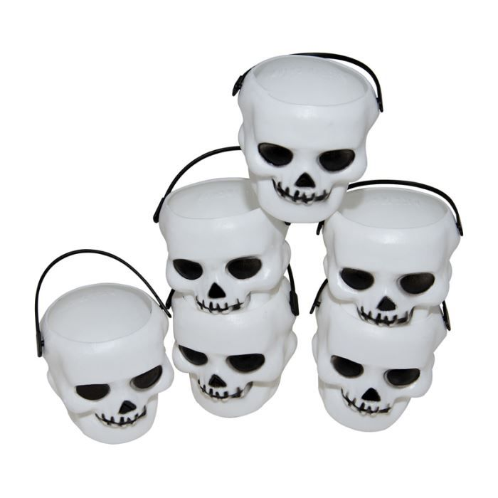 6 mini pots t te de mort halloween achat vente d cors de table cdiscount. Black Bedroom Furniture Sets. Home Design Ideas