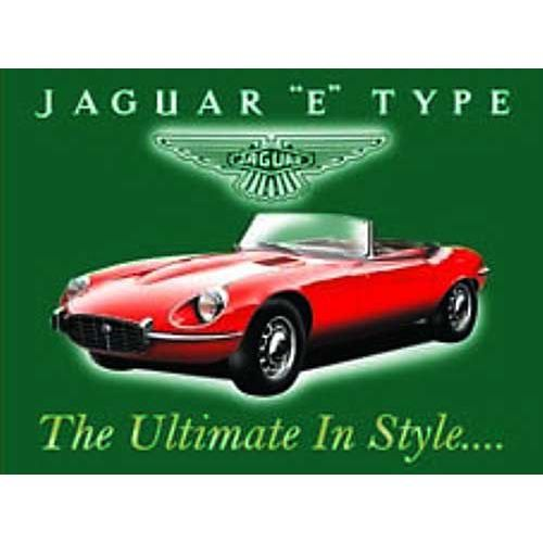 plaque metal 20x15cm voiture anglaise jaguar type e achat vente tableau toile m tal. Black Bedroom Furniture Sets. Home Design Ideas