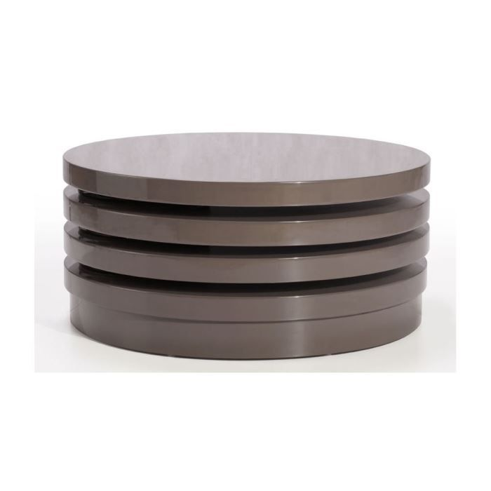 Table basse 3 plateaux tournants irving couleur achat for Table basse couleur