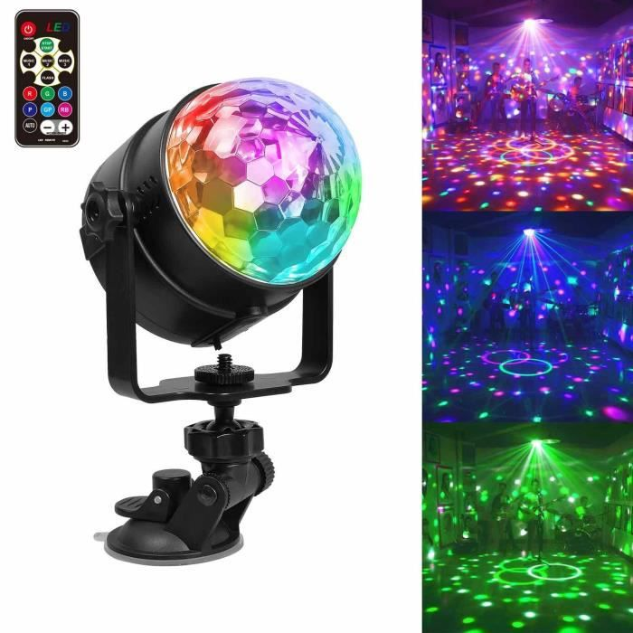 lumiere dj clairage de discoth que portable led lumi re de f te clairage de sc ne 7 couleurs. Black Bedroom Furniture Sets. Home Design Ideas