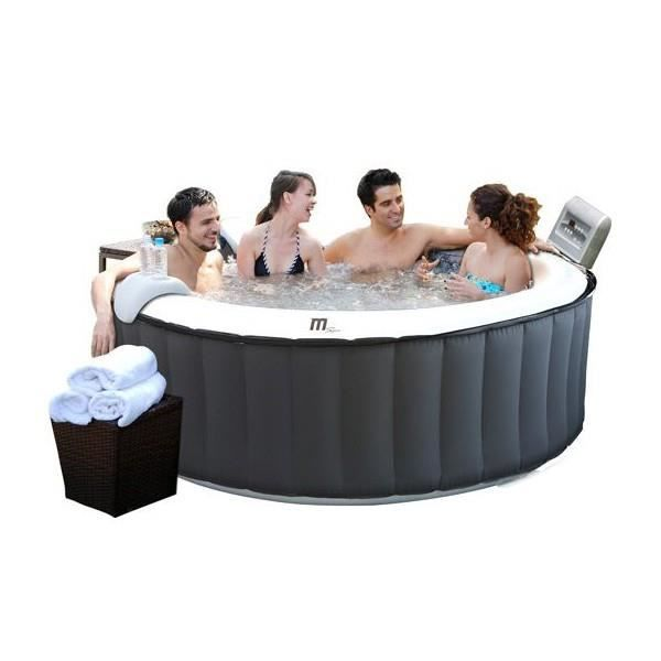 Spa gonflable aqua silver 4 places selection achat vente coque de s - Spa gonflable 4 places ...