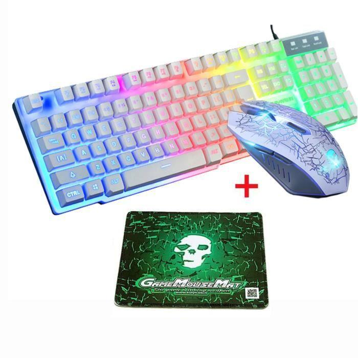 PACK CLAVIER - SOURIS Pack clavier,souris et tapis de souris Gamer Clavi