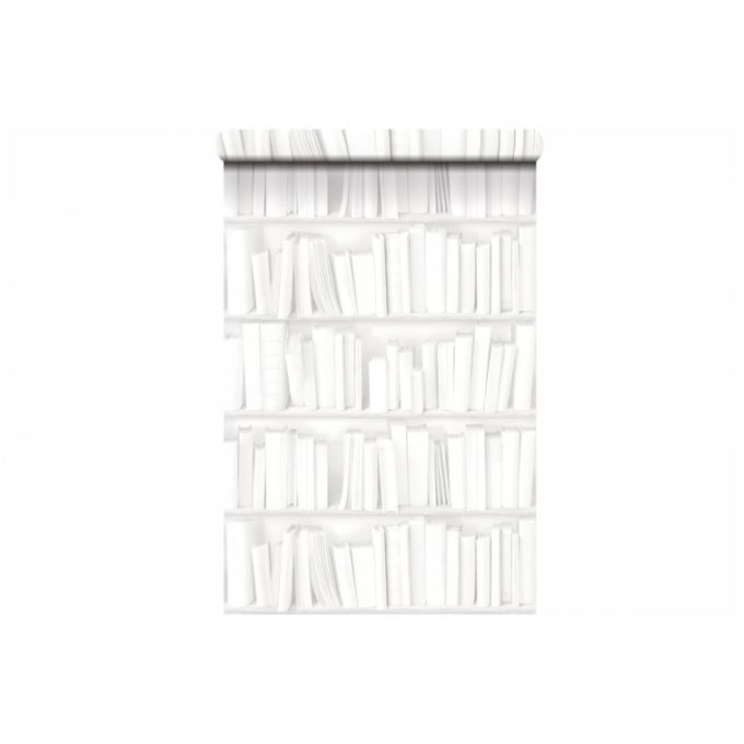 papier peint bibliotheque koziel. Black Bedroom Furniture Sets. Home Design Ideas