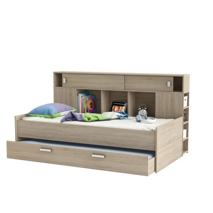 sherwood lit gigogne enfant contemporain d cor ch ne. Black Bedroom Furniture Sets. Home Design Ideas