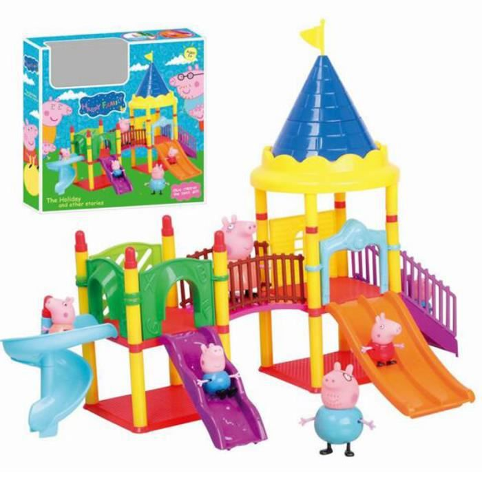 peppa pig jeu jouet ch teau parc d 39 attractions toboggans pepe enfants kianii achat vente. Black Bedroom Furniture Sets. Home Design Ideas