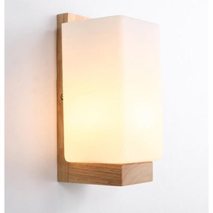 Lampe Murale Scandinave En Bois Applique Murale Style Simpe Pour Chevet Salon Escalier Couloir