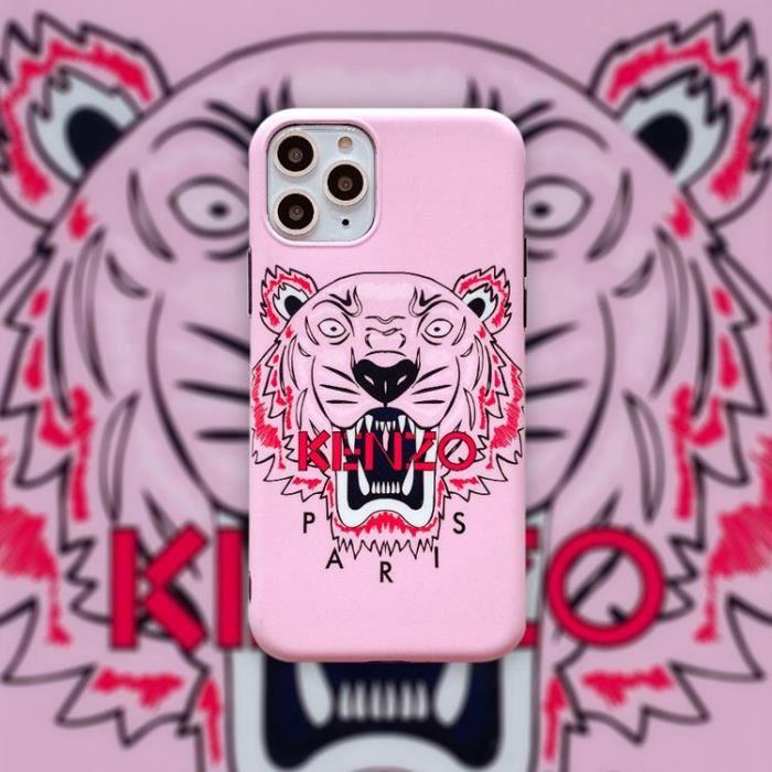 coque iphone 6 6s kenzo rose 1 silicone en gel tpu