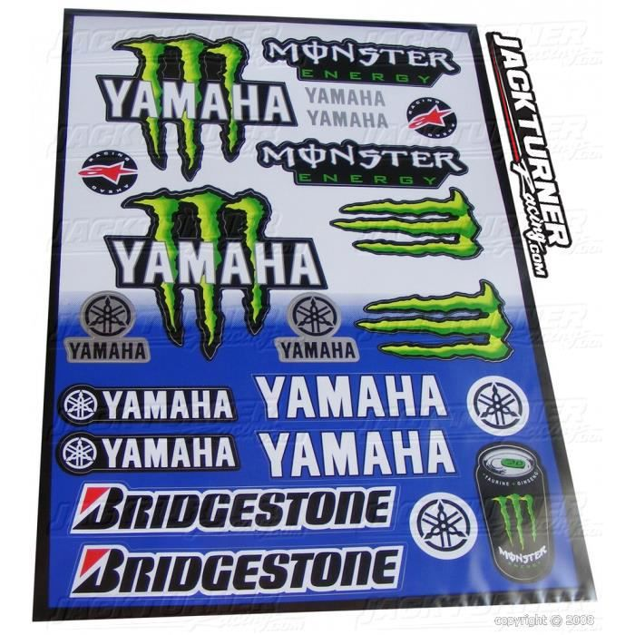 planche stickers monster energy yamaha achat vente kit carrosserie planche stickers monster. Black Bedroom Furniture Sets. Home Design Ideas