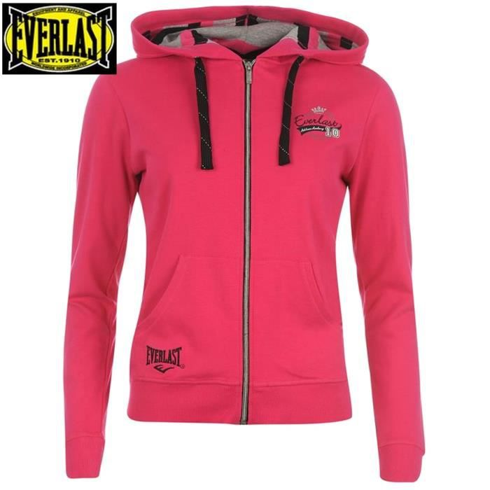 veste sport femme everlast rose achat vente surv tement de sport cdiscount. Black Bedroom Furniture Sets. Home Design Ideas