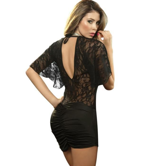noir sexy grande taille robes de club f te mini robe manche courte v cou robes moulantes black. Black Bedroom Furniture Sets. Home Design Ideas