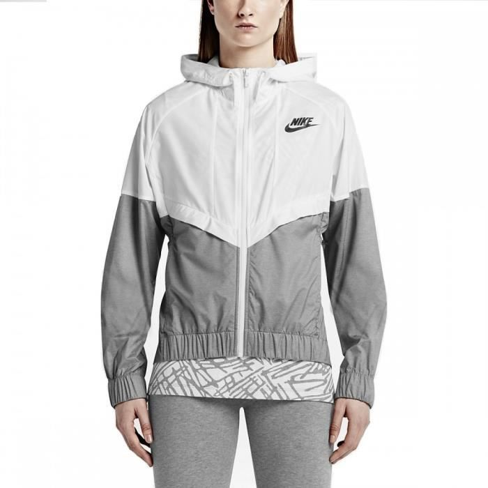 Veste coupe vent nike windrunner 726138 100 blanc for Coupe vent jardin pas cher