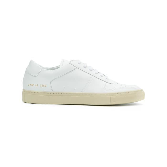 COMMON PROJECTS HOMME 21283050 BLANC CUIR BASKETS qH8b8i