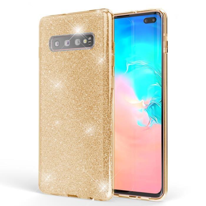 NALIA Brillante Housse Compatible avec Samsung Galaxy S21 Plus Coque Couleur:Noir Glitter Case Bling Cover Telephone Portable Protection Anti-Choc Bumper Strass Couverture Protege Paillettes
