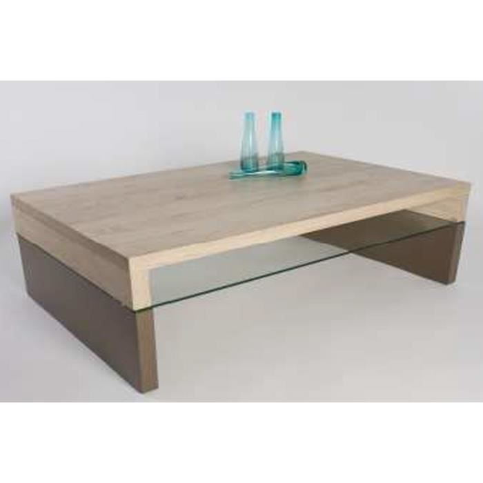 Table basse rose sonoma ch ne clair taupe laq achat - Table basse rose ...