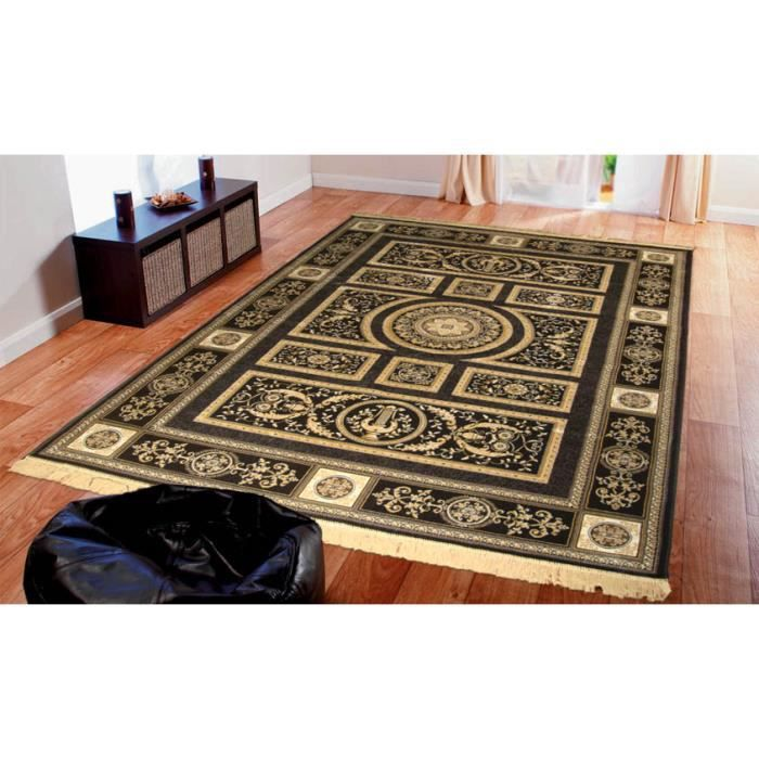 tapis classique noir 350 nero cm 160x230 achat vente tapis cdiscount. Black Bedroom Furniture Sets. Home Design Ideas