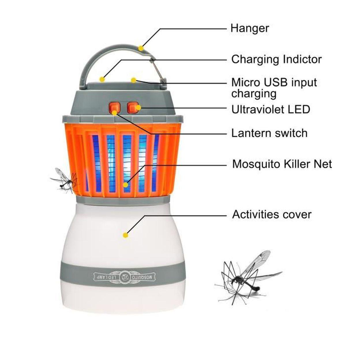 Mini Moucheron Dans La Maison lampe électronique de tueur de moustique, piège de tueur d