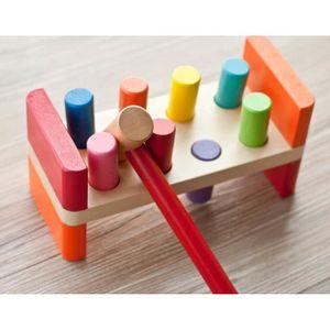en bois Mousehouse Gifts th/ème licorne Banc /à marteler pour enfant avec maillet//cylindres