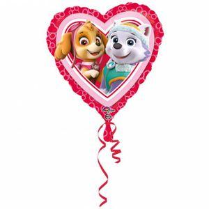 BALLON DÉCORATIF  PAT'PATROUILLE Ballon - Aluminium - Cœur - Rose