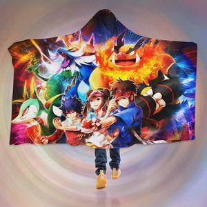 COUVERTURE - PLAID 3D  Hooded Blanket for Pokemon 8107   Couverture à