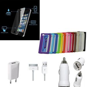 CHICHA - NARGUILÉ PACK VITRE EN VERRE TREMPEE + COQUE IPHONE 4G/4S C